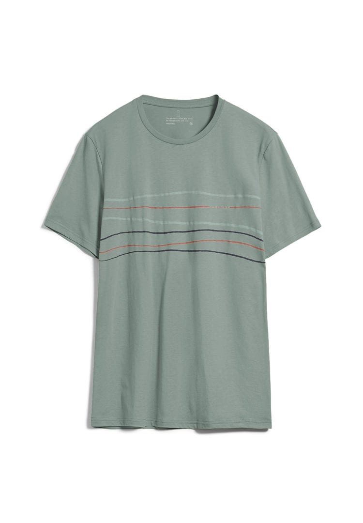 T-shirt Jaames Crooked Lines In Agave von ArmedAngels