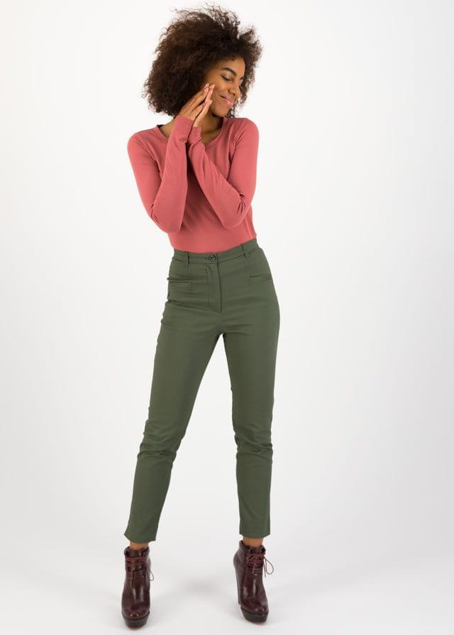 High-waist-hose Rotkäppchen Pants Grün von blutsgeschwister
