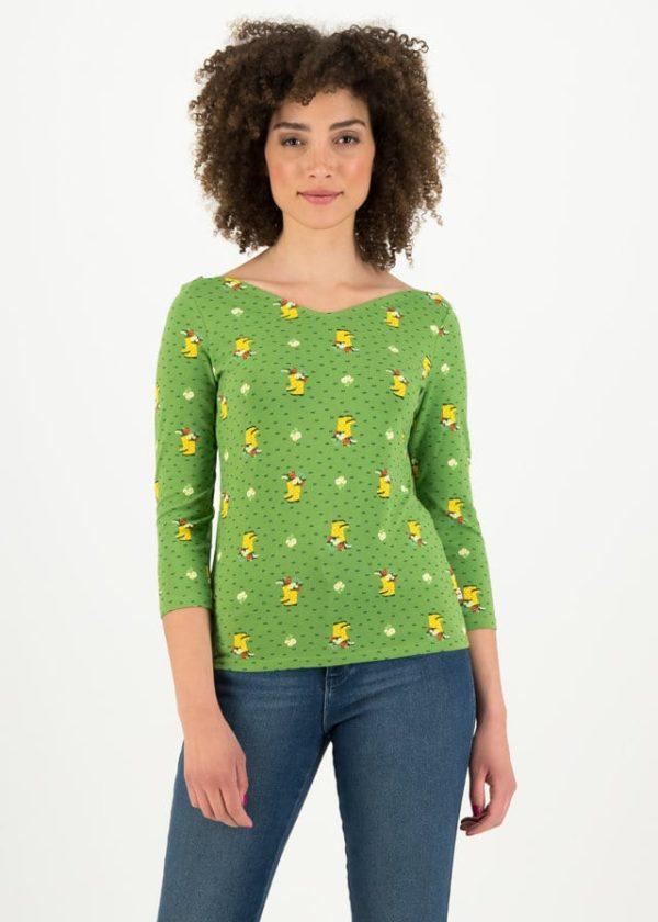 Jersey Shirt Happy Swallowneck Grün von blutsgeschwister