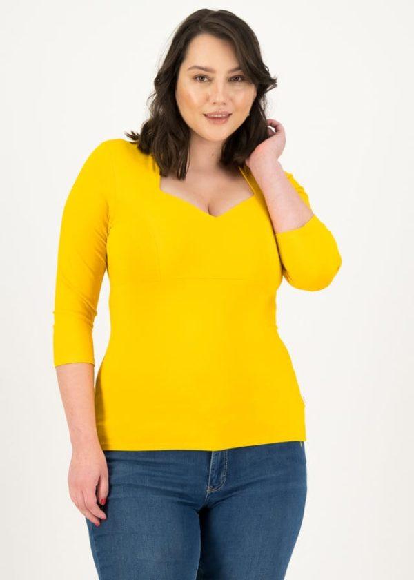 Jersey Shirt Pow Wow Vau Cropped Gelb von blutsgeschwister