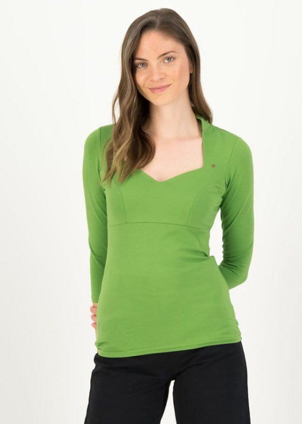 Jersey Shirt Pow Wow Vau Cropped Grün von blutsgeschwister