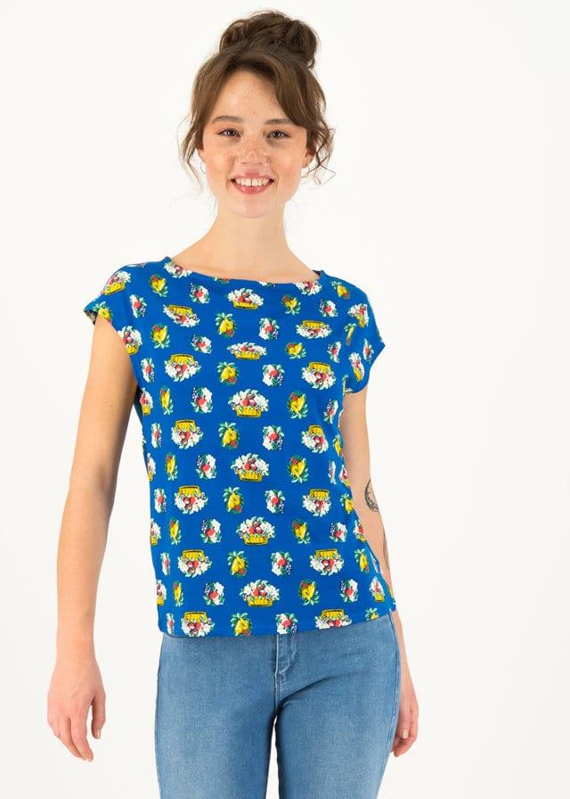 Jersey T-shirt Flowgirl Blau von blutsgeschwister