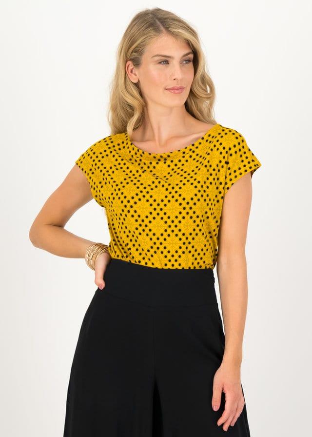 Jersey T-shirt Flowgirl Gelb von blutsgeschwister