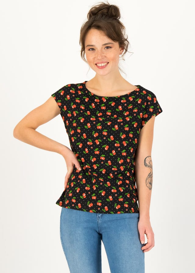 Jersey T-shirt Flowgirl Schwarz von blutsgeschwister