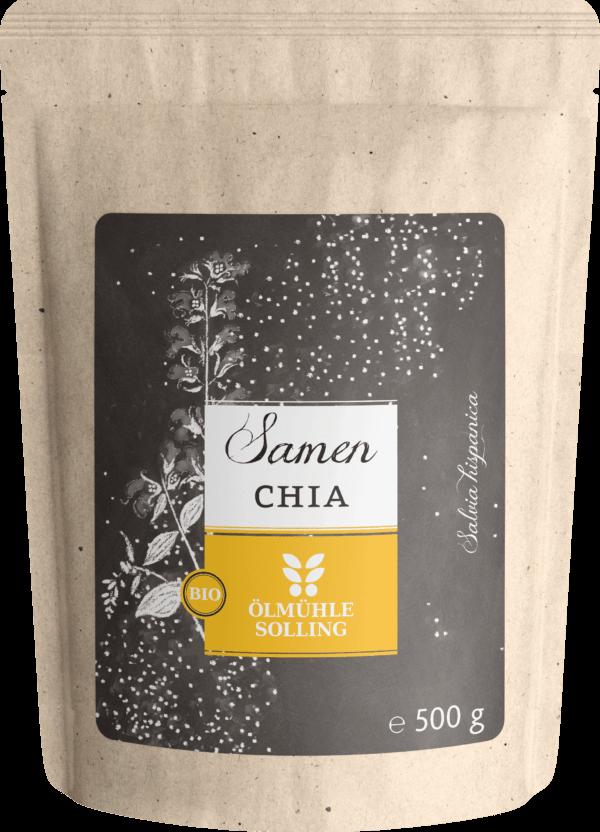Chiasamen (Salvia hispanica) naturbelassen 500 g von Ölmühle Solling
