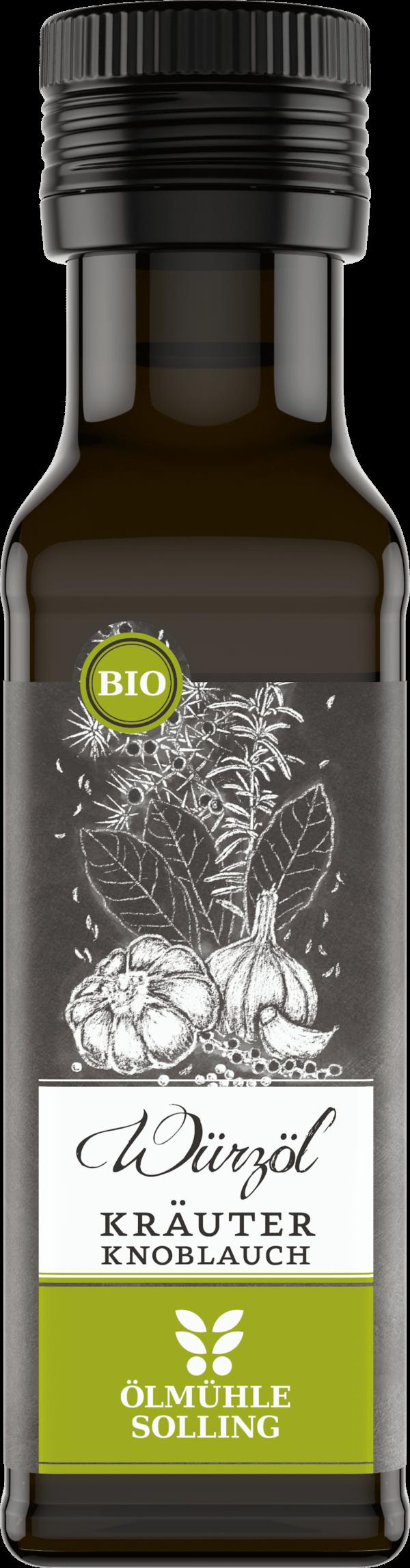 Kräuter Knoblauch Würzöl 100 ml von Ölmühle Solling
