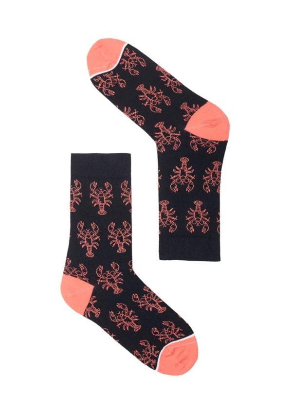Basic Socks #LOBSTER Navy / Coral von Recolution