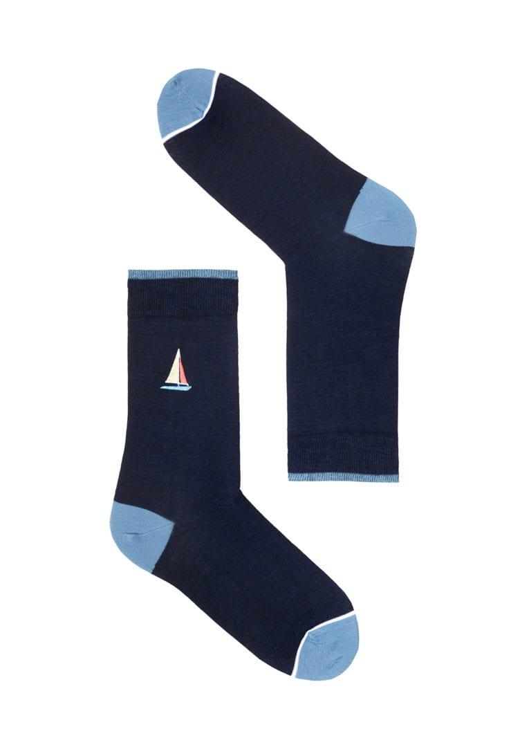 Basic Socks #SAILINGBOAT Navy von Recolution