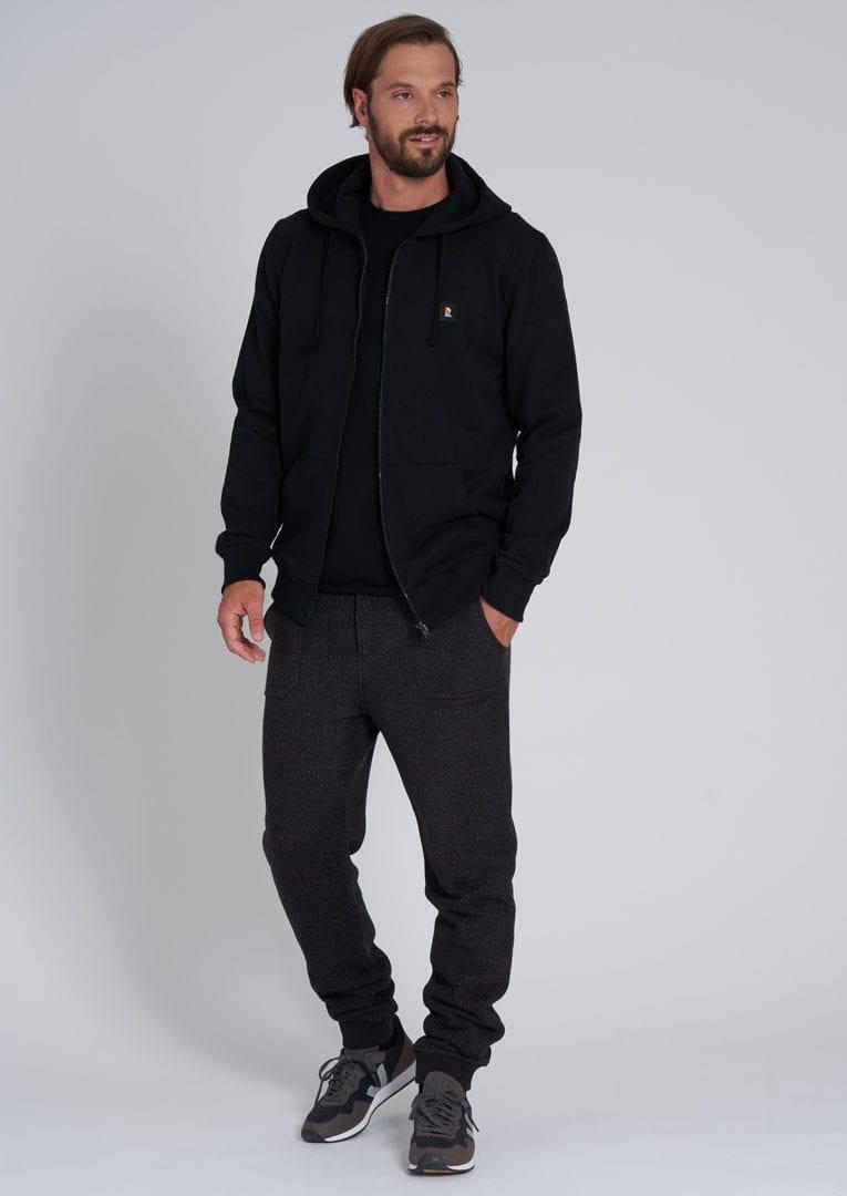 Sweatjacket ALDER #RECO Black von Recolution