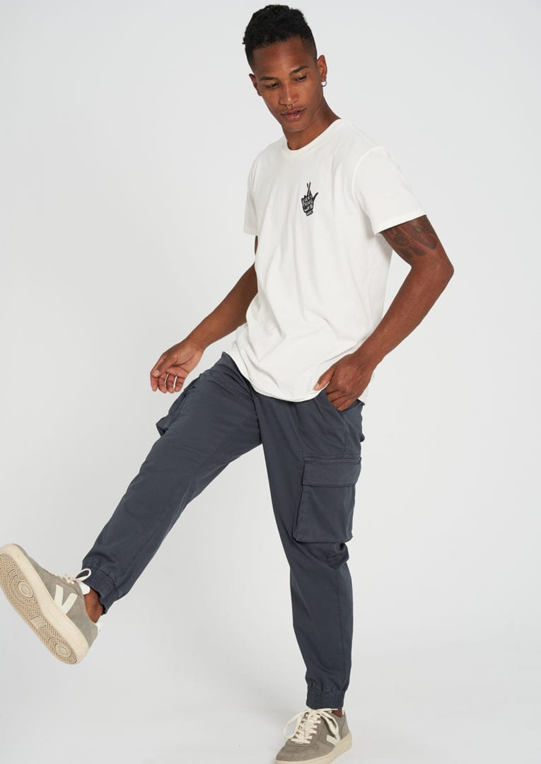 Casual T-Shirt #CROSSEDFINGERS White von Recolution