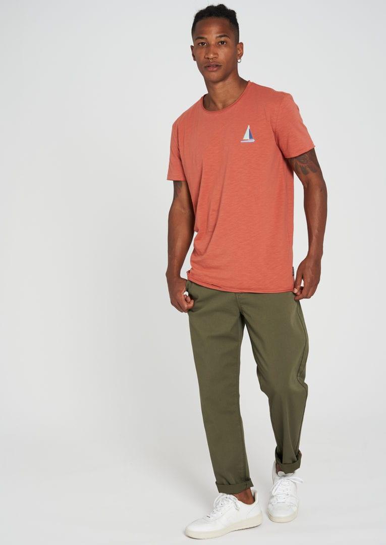Casual T-Shirt #SAILINGBOAT Summer Orange von Recolution
