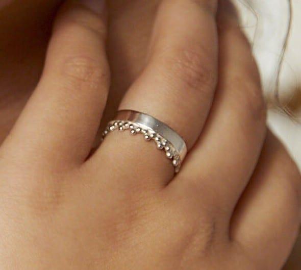Filigree Ring aus recyceltem Silber von Wild Fawn