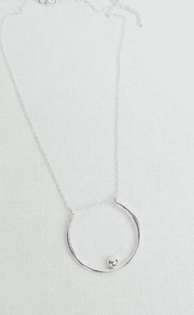 Open Pebble Pendant Halskette von Wild Fawn