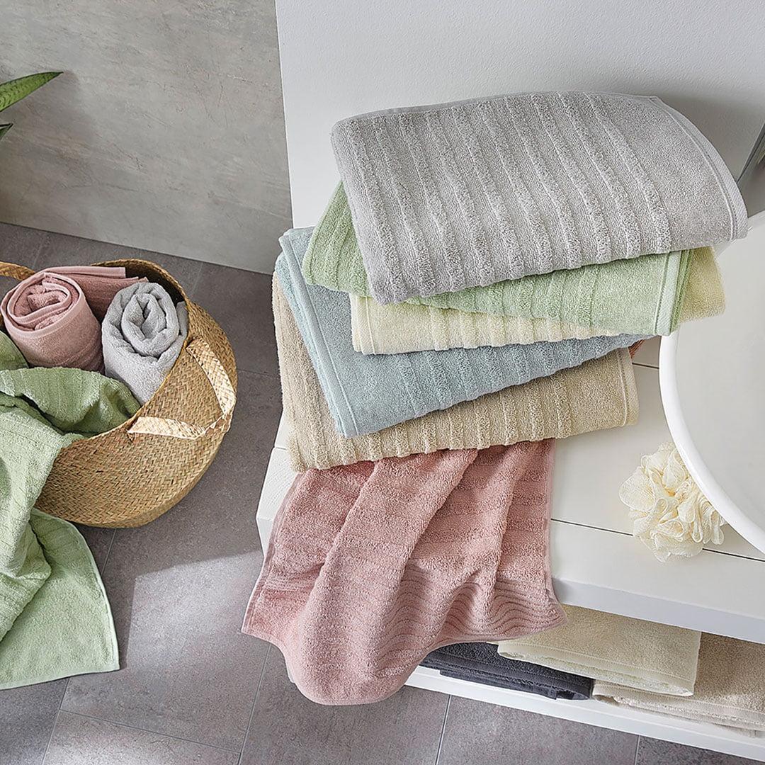 """Handtuch """"Pastello"""" - silber von allnatura"""