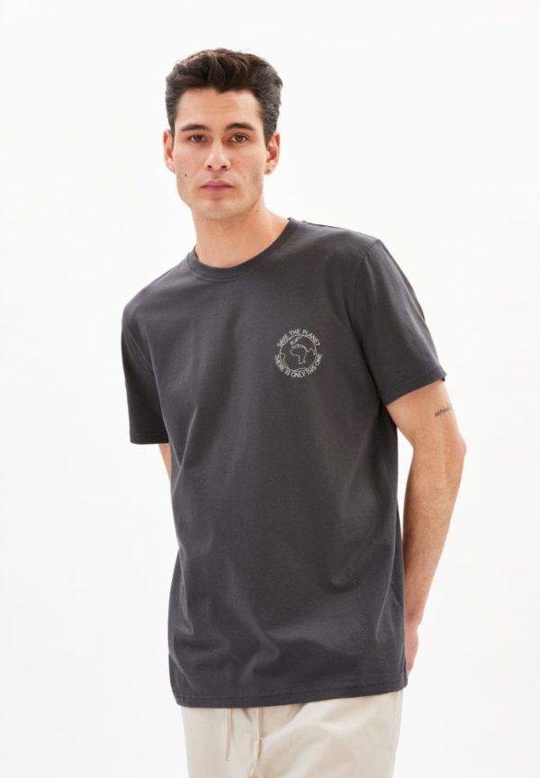 T-shirt Aado Save The Planet In Acid Black von ArmedAngels