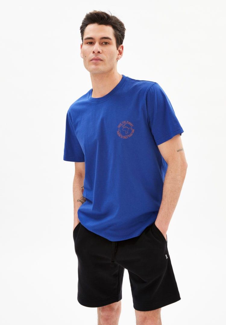T-shirt Aado Save The Planet In Marazine Blue von ArmedAngels