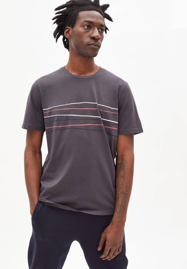 T-shirt Jaames Crooked Lines In Acid Black von ArmedAngels