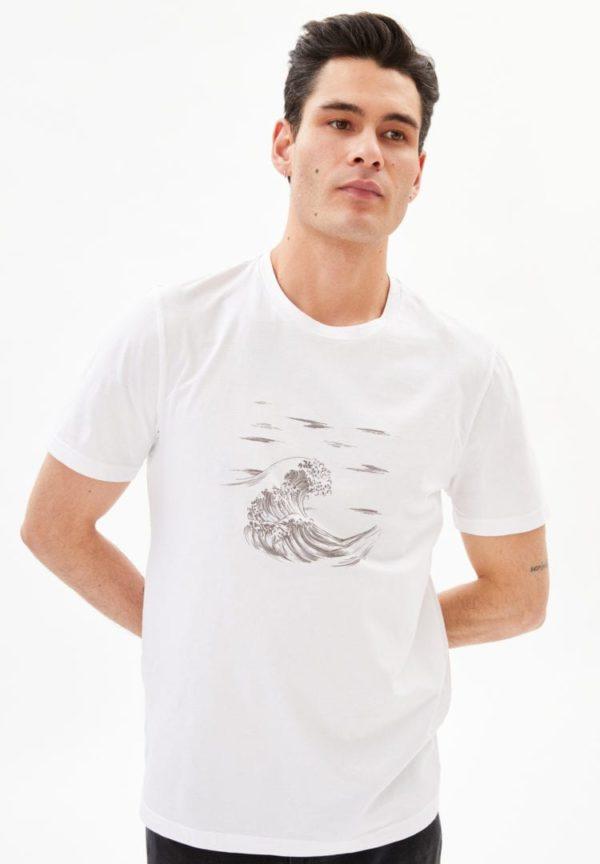 T-shirt Jaames Sea In White von ArmedAngels