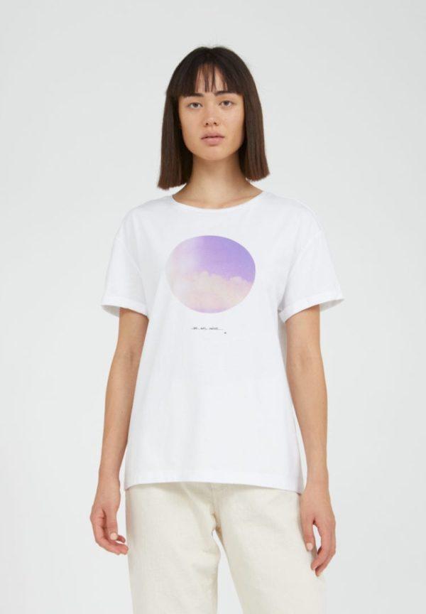T-shirt Naalin Light And Clouds In White von ArmedAngels