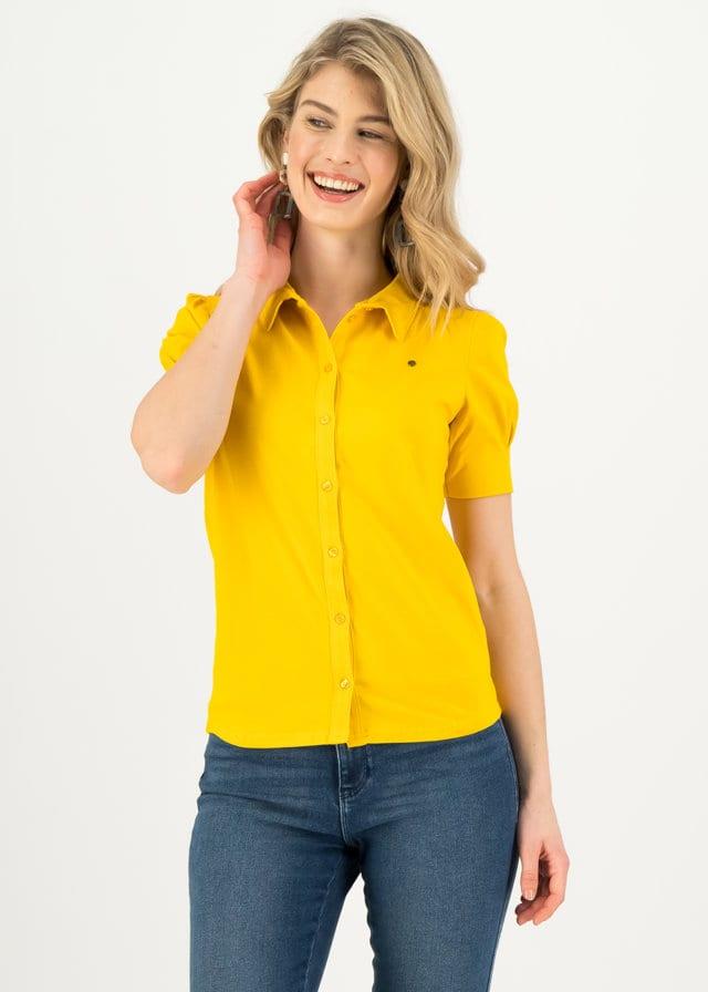 Logo Blouse Gelb von blutsgeschwister