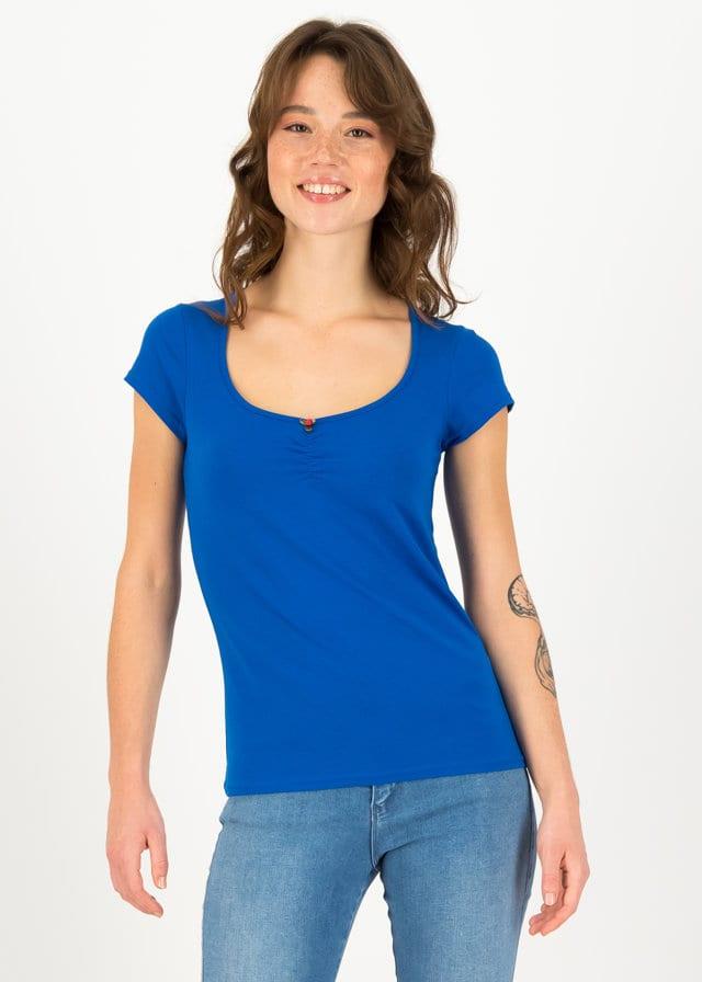Logo Shortsleeve Feminin Blau von blutsgeschwister