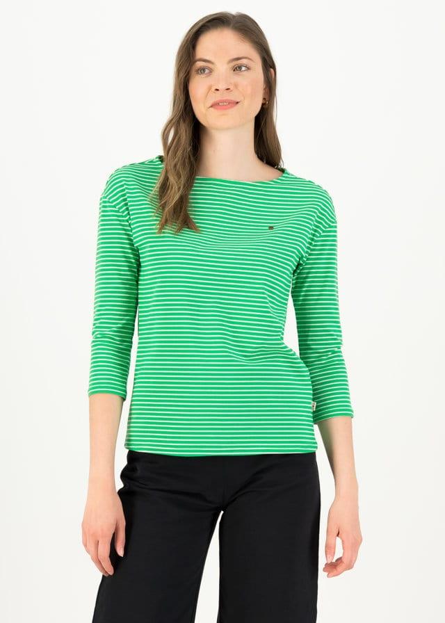 Logo Stripe 3/4 Arm Shirt Grün von blutsgeschwister
