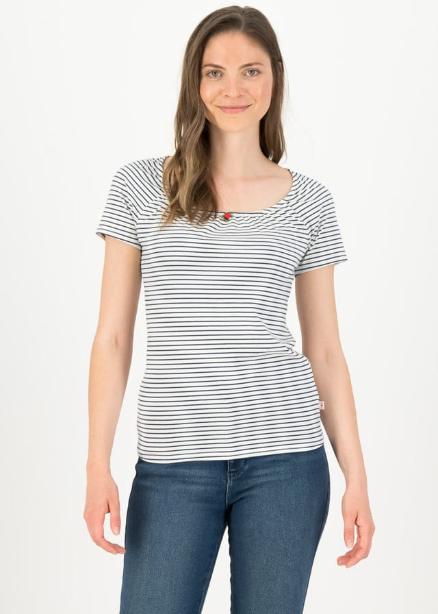 Logo Stripe Heart T-shirt Blau von blutsgeschwister