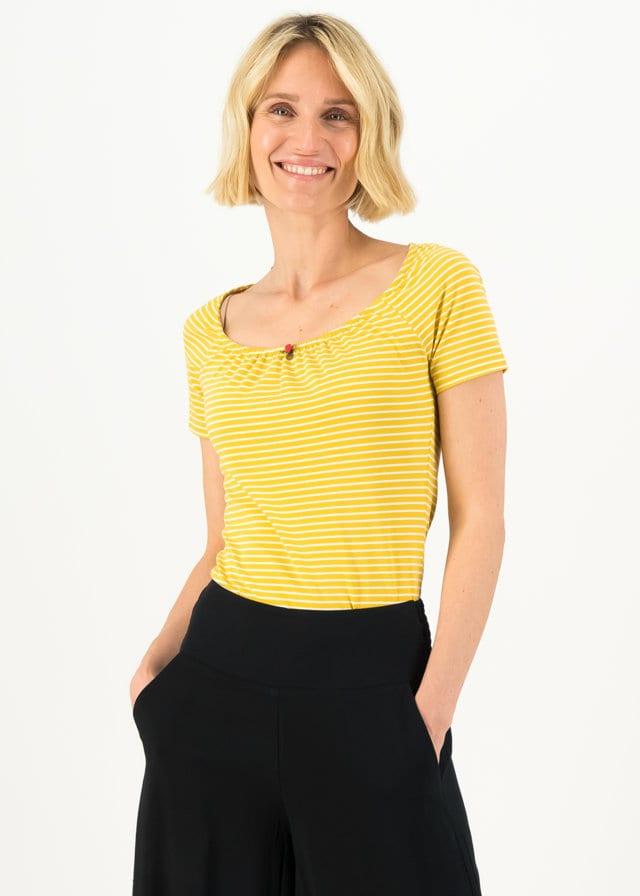 Logo Stripe Heart T-shirt Gelb von blutsgeschwister