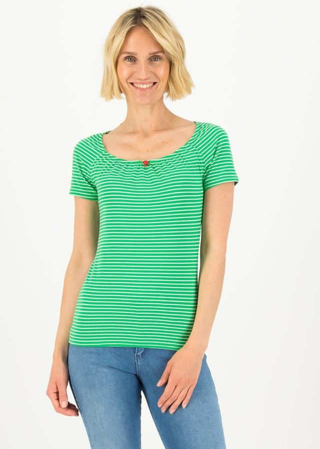 Logo Stripe Heart T-shirt Grün von blutsgeschwister