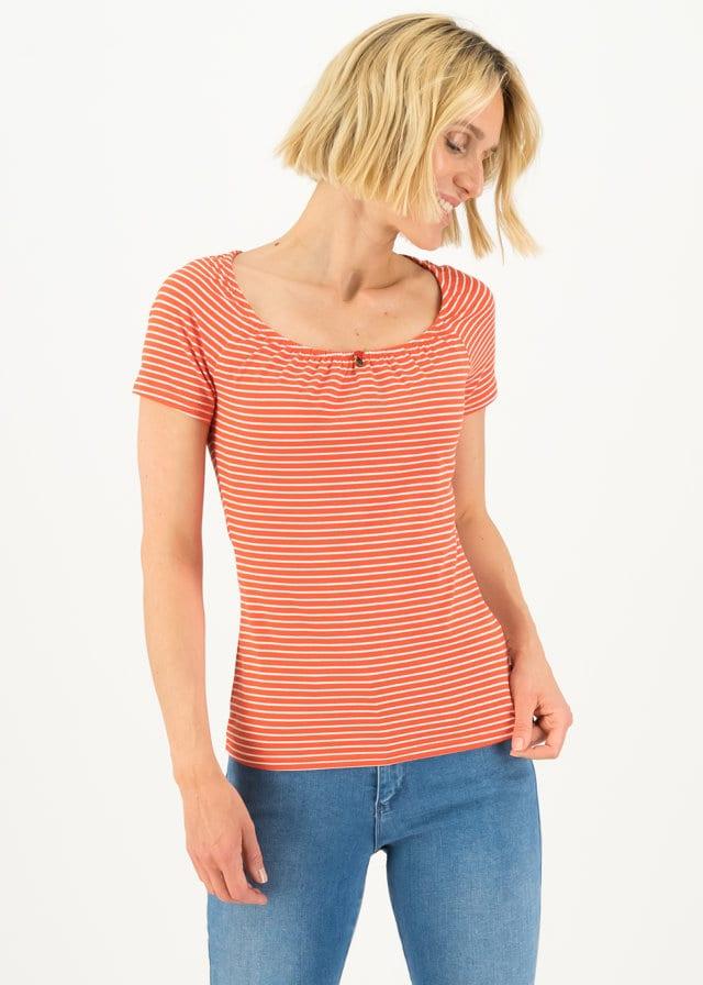 Logo Stripe Heart T-shirt Rot von blutsgeschwister