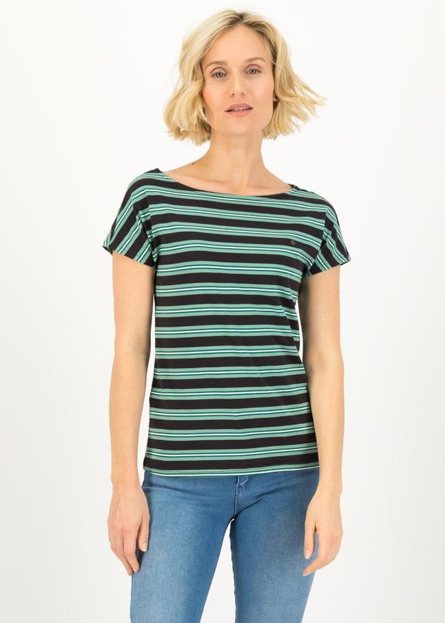 Logo Stripe T-shirt Schwarz von blutsgeschwister