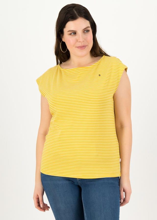 Logo Stripe Top Gelb von blutsgeschwister