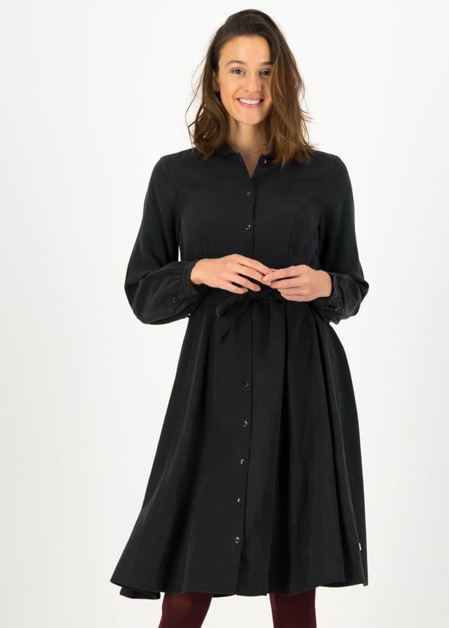 Logo Woven Dress Schwarz von blutsgeschwister