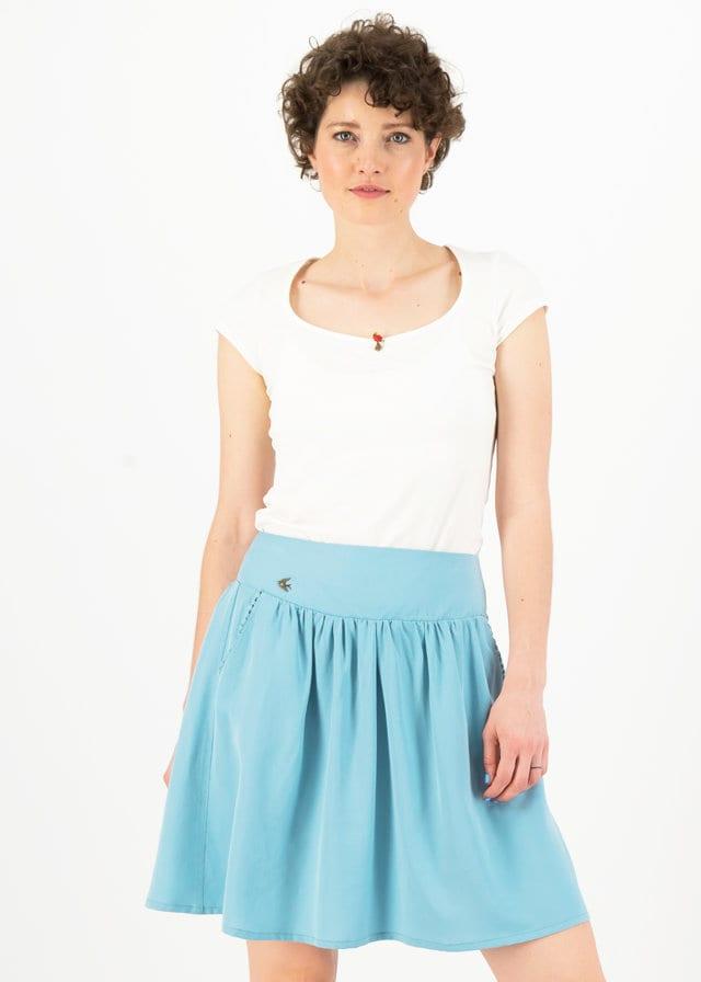 Logo Woven Skirt Blau von blutsgeschwister