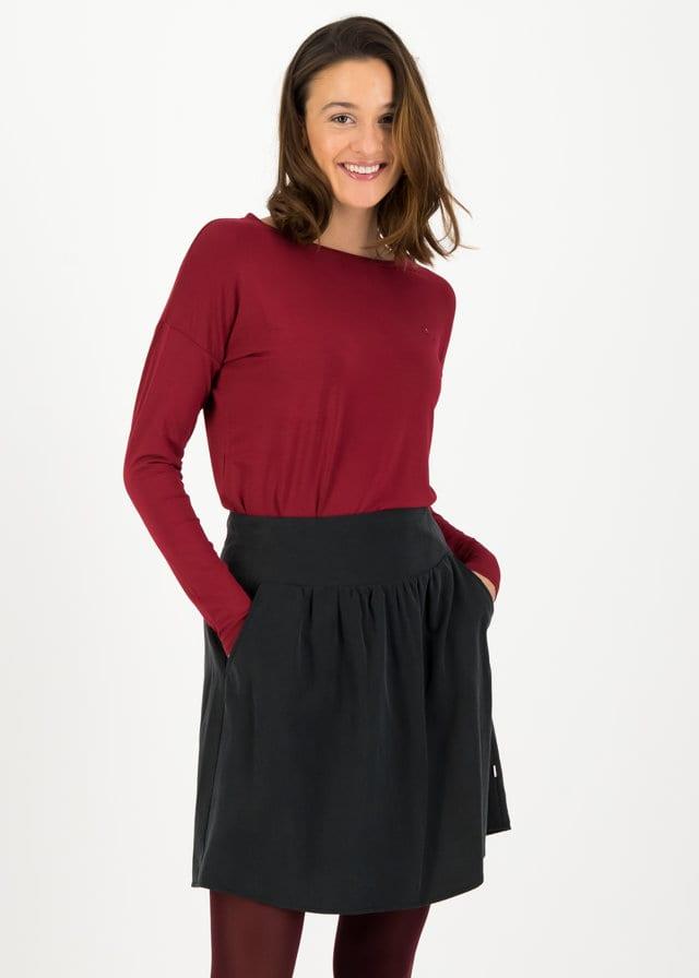 Logo Woven Skirt Schwarz von blutsgeschwister