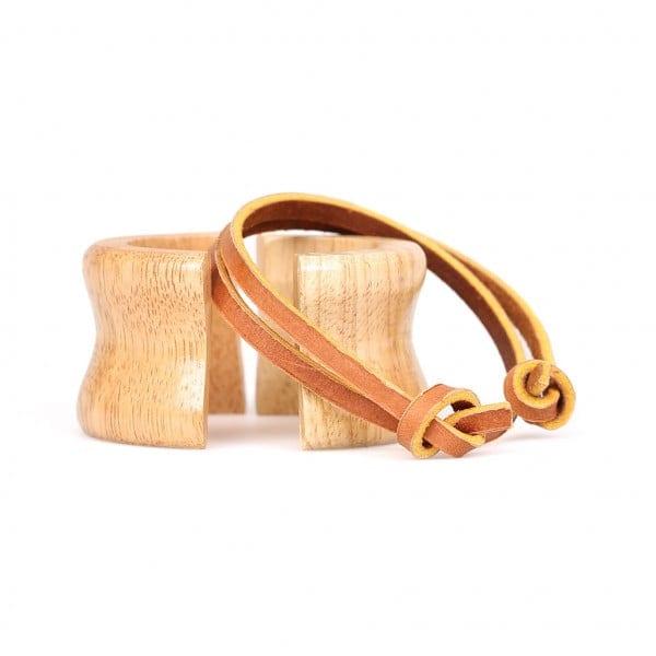 Holzmanschette mit Lederband für die 1 bis 3 Tassen Karaffe von Chemex