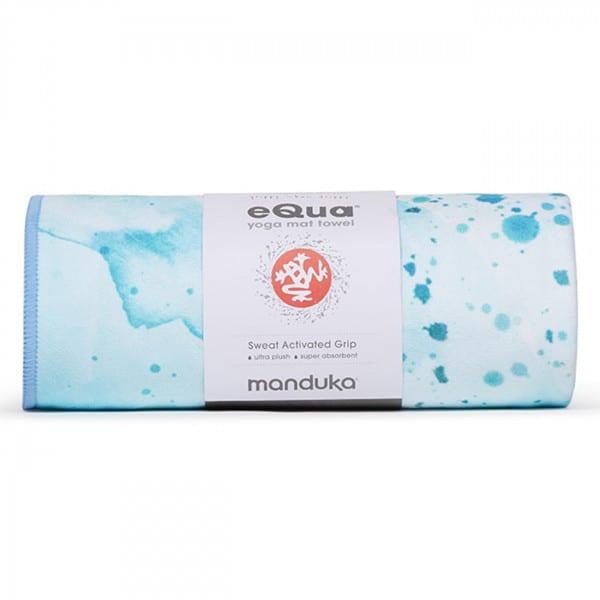 eQua Mattentuch - Splatter Splash Blue von Manduka