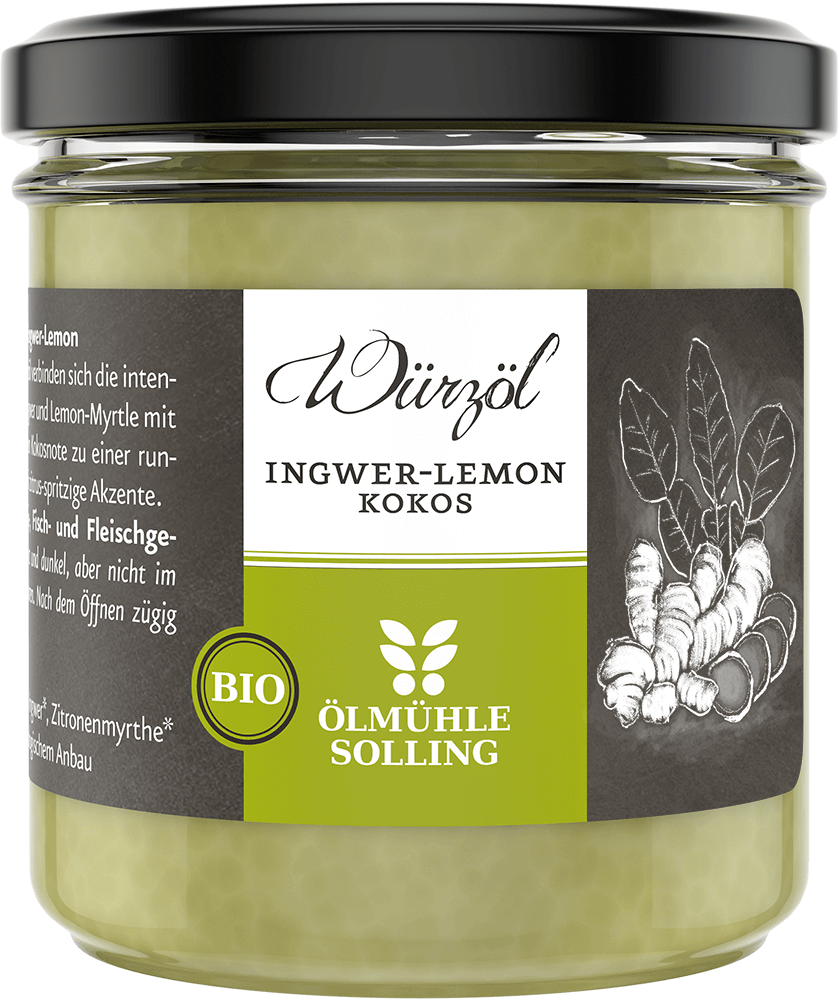 Ingwer-Lemon Kokoswürzöl 100 g von Ölmühle Solling