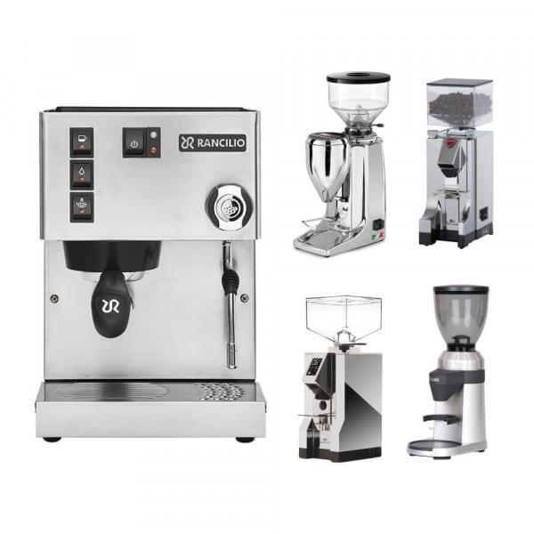 Silvia + Espressomühle im Set Quamar M80E von Rancilio