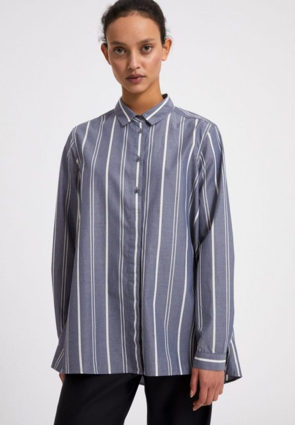Bluse Blancaa Yd Stripe In Indigo-white von ArmedAngels