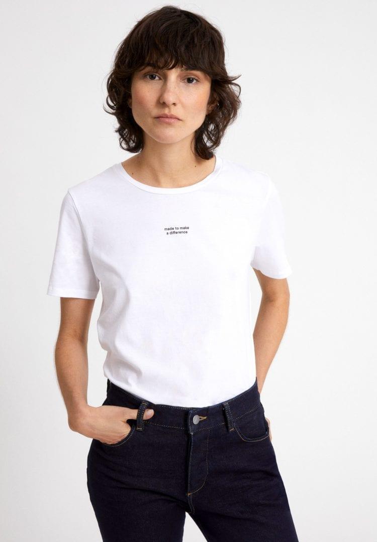 T-shirt Maraa Difference In White von ArmedAngels
