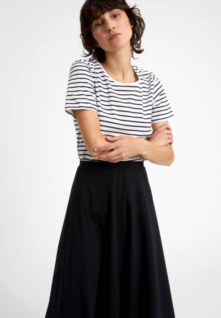 T-shirt Minaa Stripes In Off White-night Sky von ArmedAngels