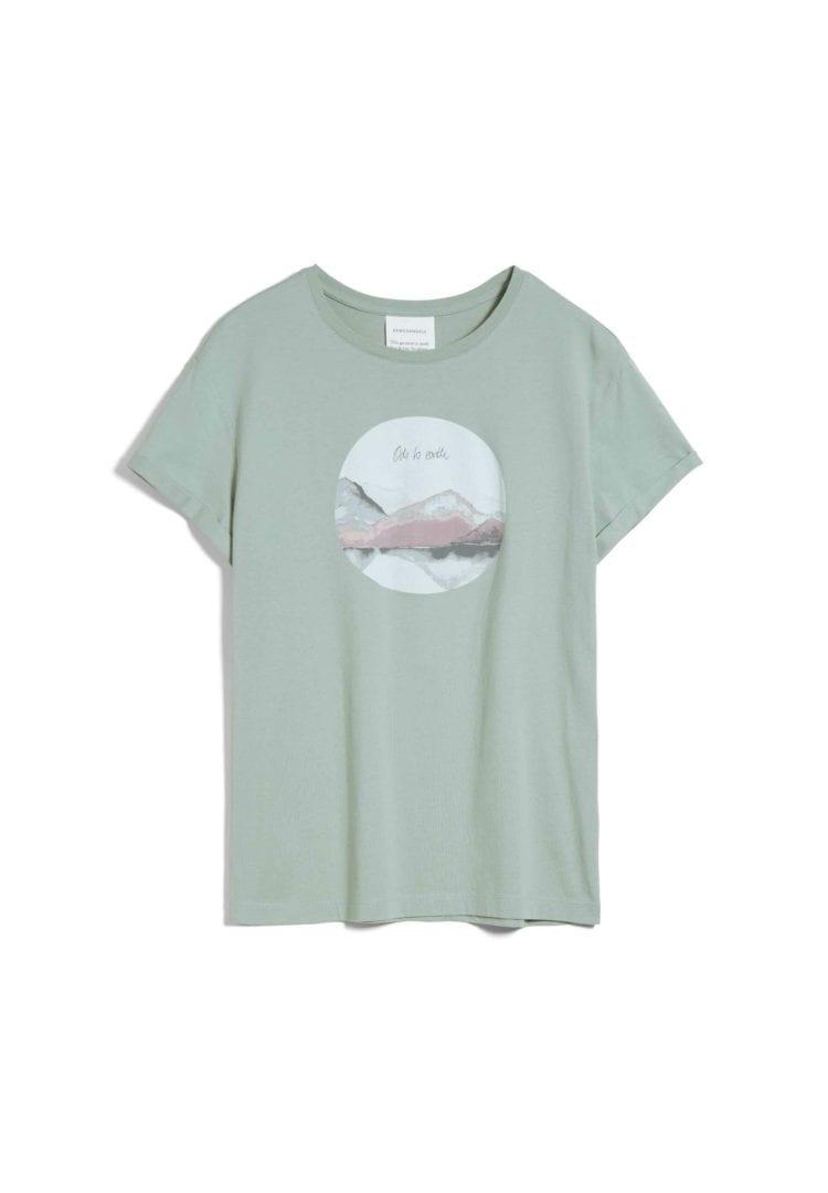 T-shirt Naalin Ode To Earth In Sage Green von ArmedAngels
