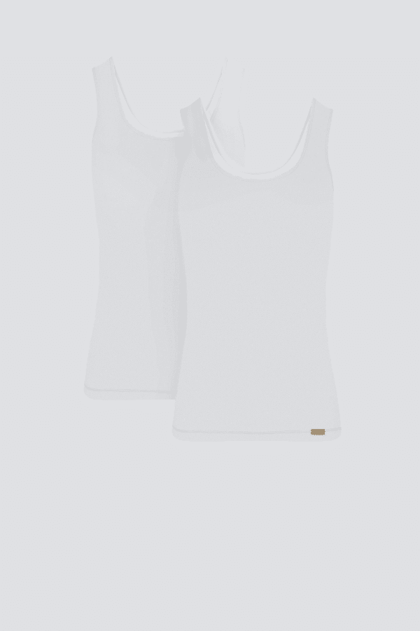 Unterhemd Achselträger 2er Pack - Weiss von Comazo