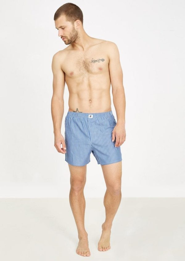 Boxershorts STRIPES Blue / White von Recolution