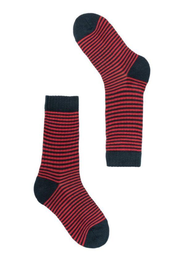 Socks STRIPES Navy / Red von Recolution