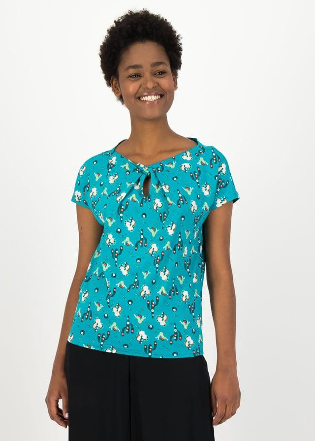 Jersey Shirt Safari Sailorette Türkis von blutsgeschwister