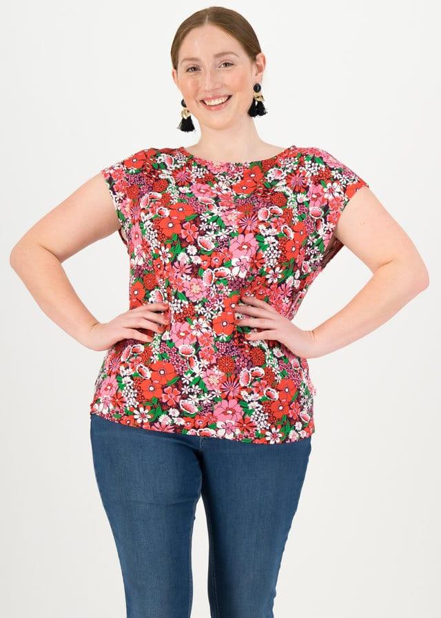Jersey T-shirt Flowgirl Lila von blutsgeschwister
