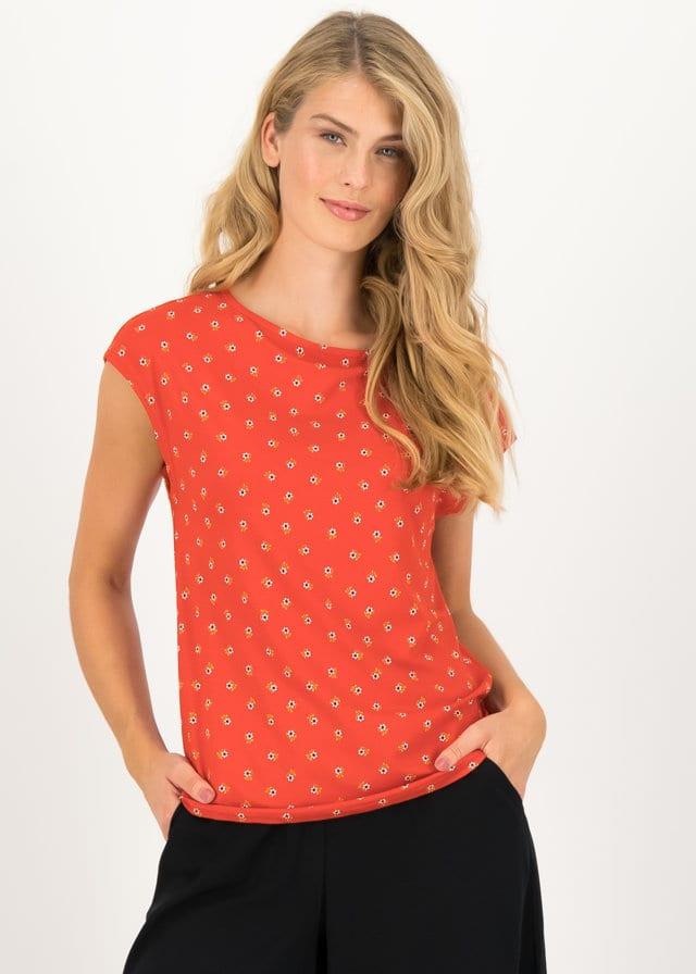 Jersey T-shirt Flowgirl Rot von blutsgeschwister