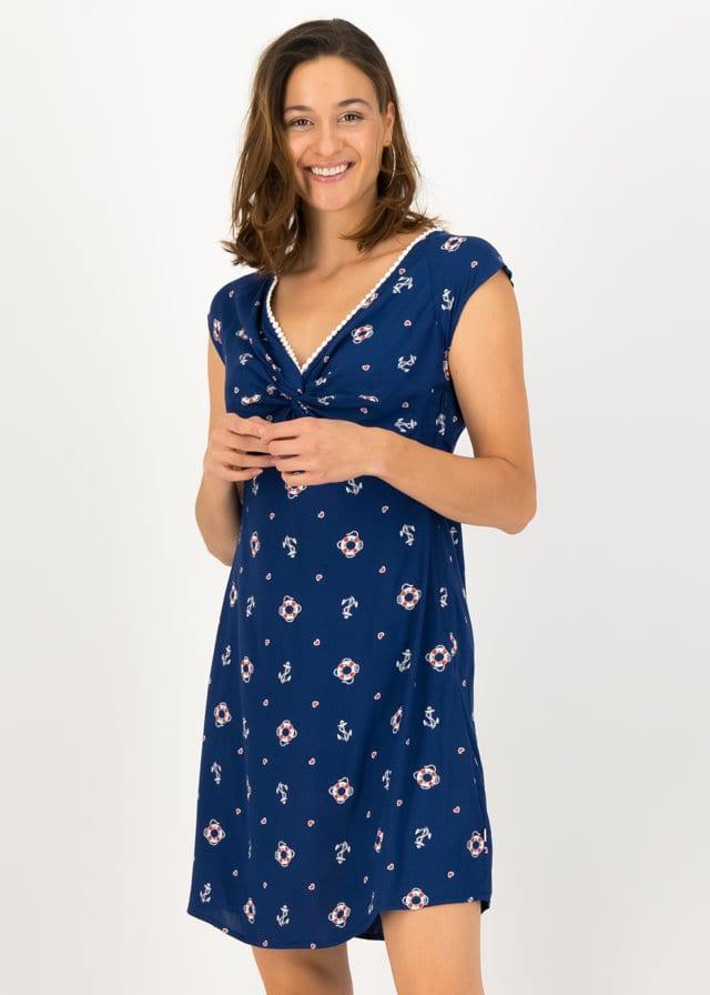 Sommerkleid Kap Knot Blau von blutsgeschwister